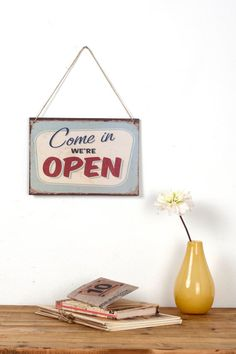 Vintage Style Open sign by Judydesignstore on Etsy