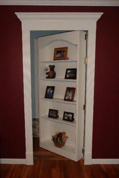 Hidden secret bookcase door | StashVault