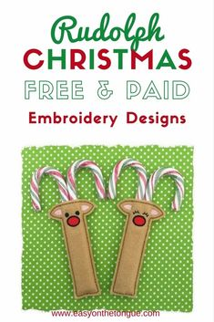 This post is a round-up of Free and Paid Rudolph Christmas Embroidery Designs. Get the full list at www.easyonthetongue.com and start stitching your gifts as soon as possible. Some of the Christmas embroidery designs are patches, some are coloring soft toys to stitch in the hoop (ITH), there are designs to personlise with names and hang on the Christmas tree as decorations, or the most adorable ITH Reindeer dolls.  Click through, why wait?  Or save and share please!