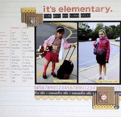 Fab page showing one child 5 years apart, with a comparison chart! This was from Ella's Boot Camp Scrapbooking Layouts, Scrapbook Pages, Digital Scrapbooking, Space Crafts, Paper Goods, Mini, Back To School, Boot Camp, 5 Years
