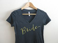Bride Shirt Wifey Shirt Mrs. Shirt Gold Silver by GNARLYGRAIL