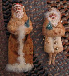 Craft An Old-World, Cotton Batting Santa | Belznickle Blogspot : Craft An Old-World, Cotton Batting Santa