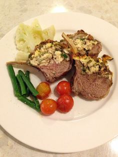 Rack of lamb with spinach feta and Galicia crust