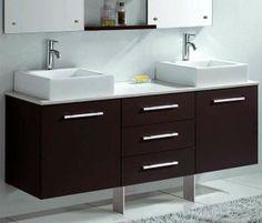 Florencia 1600 Wall Hung Espresso Vanity Unit Modern Bathroom Furniture