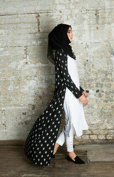 modern and stylish kimono outfits with hijab for women Islamic Fashion, Muslim Fashion, Modest Fashion, Girl Fashion, Fashion Dresses, Fashion Ideas, Shrug For Dresses, Modest Dresses, Modest Outfits