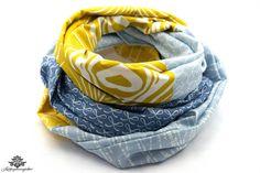 Tuch gelb hellblau von #Lieblingsmanufaktur