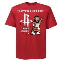James Harden 8 Bit T-Shirt - Official Houston Rockets NBA Licensed Merchandise