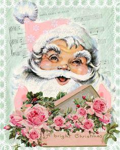 Pink CHRISTMAS CottageRoseGraphics