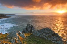 Gary King - Google+   Sunrise at Prawle Point, South Hams, Devon, UK. One of the most southerly peninsulas in the UK, a very special view at sunrise indeed.