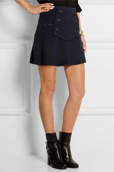 Isabel Marant | Huxley knitted wool-blend mini skirt | NET-A-PORTER.COM