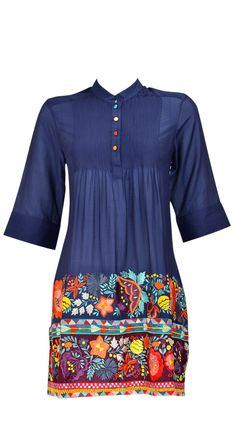 Pankaj and Nidhi - embroidered tunic