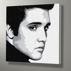 Elvis Pop Art with Monochrome Canvas Wrap
