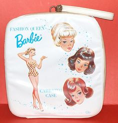Variation on the Fashion Queen Barbie carrying case - white instead of red