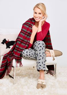 Browse our modern classic selection of women's clothing, jewelry, accessories and shoes. Talbots offers apparel in misses, petite, plus size and plus size petite. Preppy Outfits, Winter Outfits, Preppy Clothes, Niki Taylor, Dog Pajamas, Pajama Set, Pajama Party, Talbots, Fabric Design