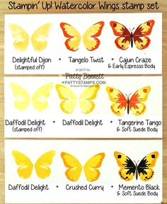 Watercolor-wings-stampin-up-stamp-set-butterfly-card-pattystamps-color-combos