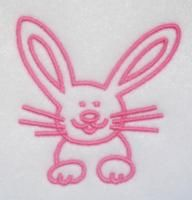 Bunny Easter Embroidery Design.