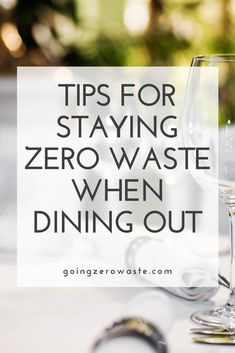 4 Tips for Staying Zero Waste When Dining Out There's nothing that makes me happier than going out to eat for a nice meal. And, guess what? You can stay zero waste when dining out with these 4 tips. Reduce Waste, Zero Waste, Food Waste, Mindful Living, Sustainable Living, Meal, Dining, Household Tips, Sustainability