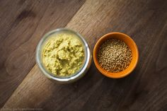Homemade Mustard - Garlic and Lime | After reading the ingredients list on a pot of mustard, I thought it must be possible to make it at home. Indeed it is. And while it takes a few days to brew and mature, it does not take much active involvement to make it. Looking forward to experimenting with some more variations of this recipe. | #healthy, #wholefood, #paleo, #vegetarian, #vegan, #homemade