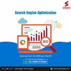 We make your Website to Rank on Search Engines that brings to Traffic For more Information WhatsApp us @ +91 93 98 97 26 30 www.sophicapp.com #seoservices #BestSEOServicesCompanyinHyderabad #seocompanyinhyderabad #bestseocompanyinhyderabad #seoservicesinindia Best Seo Company, Web Application, Seo Services, Search Engine Optimization, App Development, Mobile App, Digital Marketing, Technology, Make It Yourself