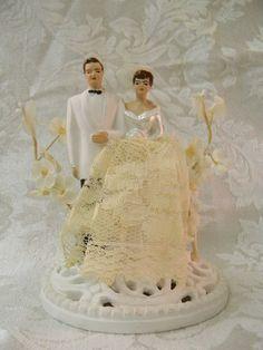 vintage cake topper