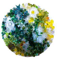 Life in glass houses. Lampworked glass, acrylic. Isla Osborne.