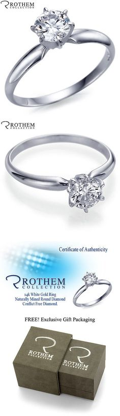 Diamond 164306: 0.29 Ct F Si1 14K White Gold Round Solitaire Diamond Engagement Ring 46332102 -> BUY IT NOW ONLY: $314 on eBay!