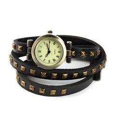 Reloj Pulsera Stud de Esencia Femenina, negro