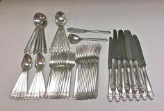 Vintage KING CEDRIC 1933 Community Silver Plate Flatware Set for TWELVE No Mono #OneidaCommunityPlate