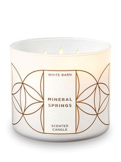 Bath and Body Works White Barn 3 Wick Scented Candle Mineral Springs Ounce with Essential Oils Bath Candles, 3 Wick Candles, Scented Candles, Candle Jars, Diy Candles, Bath N Body Works, Bath And Body, Water Candle, Candle Store