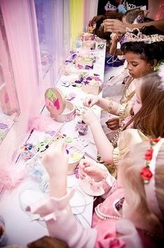 decorate your own jewellery box and then do a table of jewels for the princesses to choose as favors