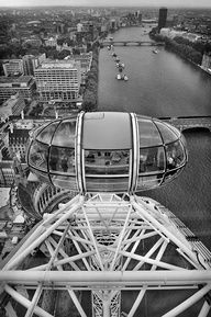 The London Eye - I'm unsure if I want to go back on this thing. It's expensive, high in the air, and over a river. But it's beautiful!