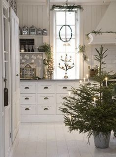 Keuken in Kerst sfeer