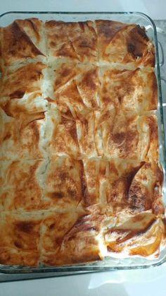 Peynirli Börek (Su Böreği Sanacaksınız) - Nefis Yemek Tarifleri Lasagna, Ethnic Recipes, Food, Essen, Meals, Yemek, Lasagne, Eten