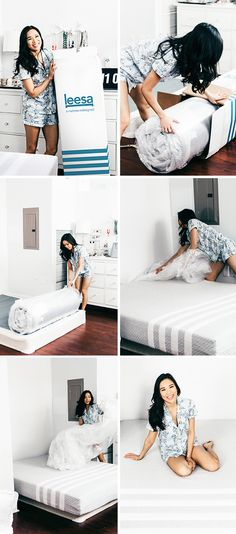 """""""I prefer getting lots of sleep – so I aim for eight and nine hours of uninterrupted sleep a night. A mattress that works for you is crucial. LEESA mattresses are created with three premium foam layers. The first layer is a 2-inch Avena foam top, keeping you cool and giving you that nice bit of bounce. The next two inches of memory foam contour to your body and give you that ultra comfy cocoon-feel while providing support."""" - Hoang-Kim, Color & Chic"""
