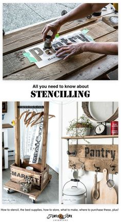 Everything you need to know about stencilling in one post! How to stencil, the best supplies, what to make, how to store, how to clean, where to buy, etc. funkyjunkinterior...