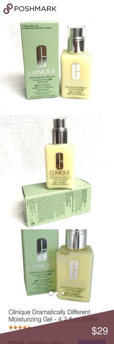 CLINIQUE dramaticly different moisturizer gel I'd  love to answer your questions regarding to the item.  Also love to give discounts for bundles. I always ship safely and quickly. Clinique Makeup