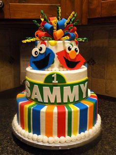 Ava's 1st birthday party was Sesame Street.  This cake is almost as cool as her cake was. :)