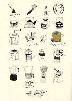 : : Tea and Coffee. - Katt Frank Illustration : :