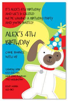 puppy birthday invitation