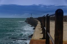 Kowie River mouth sea wall. #kowie #kowieriver #portalfred #river #sea #weather #waves #wall #easterncape #southafrica River Mouth, Instagram Feed, Waves, Weather, Sea, Outdoor, Outdoors, The Ocean, Ocean Waves