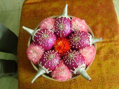 "Photo from album ""Portfolio"" posted by accessories Sara Decor's Kalash Decoration, Thali Decoration Ideas, Fruit Decorations, Cradle Decoration, Basket Decoration, Coconut Decoration, Baby Shower Plates, Marriage Decoration, Wedding Plates"