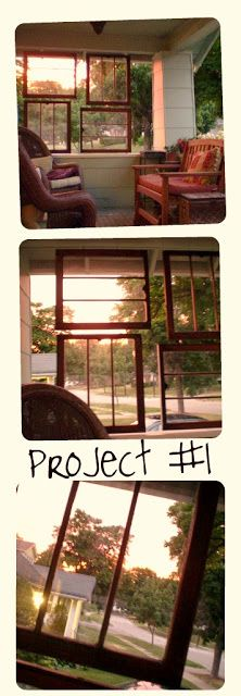 Curb appeal on pinterest upcycled vintage window and for Outdoor decorating with old windows