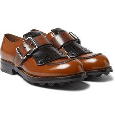Prada - Spazzolato Leather Kiltie Derby Shoes