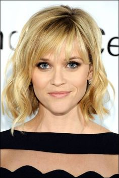 Shoulder Length Hairstyles for Fine Hair with Bangs