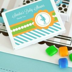Going to Pop - Blue Personalized Gum Boxes
