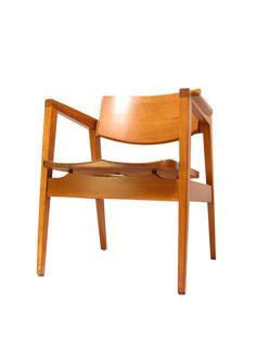 Gunlocke Danish Modern Stacking Arm Chairs wood by TheMarvelarium