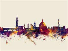 Horizonte de Florencia Florencia Italia paisaje urbano por artPause