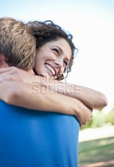 Couple hugging in park Couple Hugging, Media Images, Hugs, Stock Photos, Park, Couple Photos, People, Big Hugs, Couple Shots