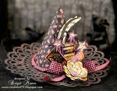 "Brigit's Scraps ""Where Scraps Become Treasures"": Luminary Witches Hat Decor"