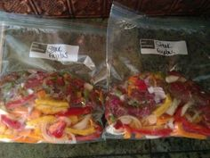 Hawaiian Chicken, Chicken Stir Fry, and Steak Fajitas (freezer cooking instructions)